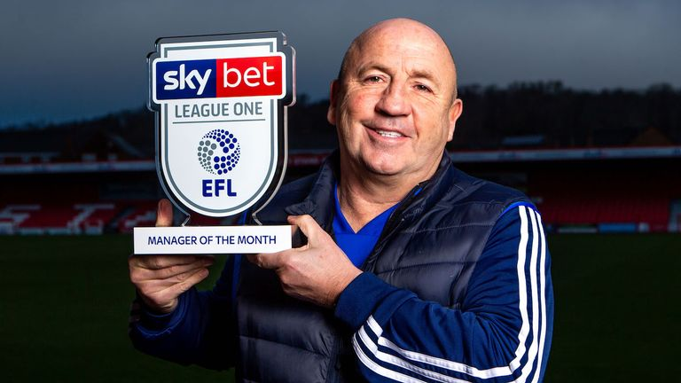 John Coleman of Accrington Stanley won the Sky Bet League One Manager of the Month award for December