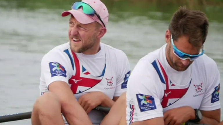 John Collins (L) is aiming to be a part of Team GB's Tokyo 2020 team