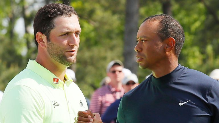 Jon Rahm plays alongside Tiger Woods for the first two rounds