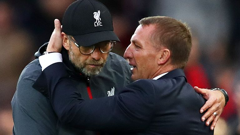 Klopp succeeded Rodgers at Anfield in 2015