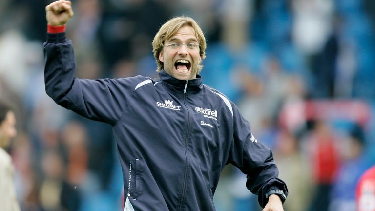Klopp during his time at Mainz, where he managed from 2001 to 2008