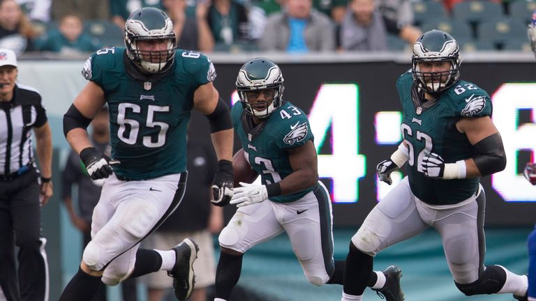 Johnson and Kelce have been regulars on the Eagles' offensive line since 2013