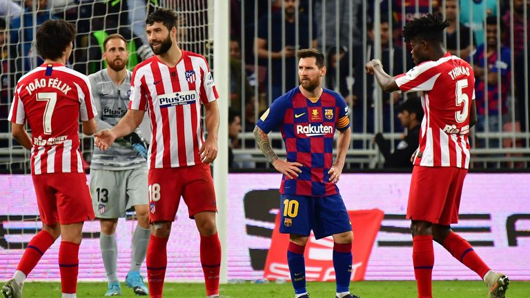 Barcelona lost 3-2 to Atletico Madrid in the Spanish Super Cup semi-final in Valverde's last game in charge