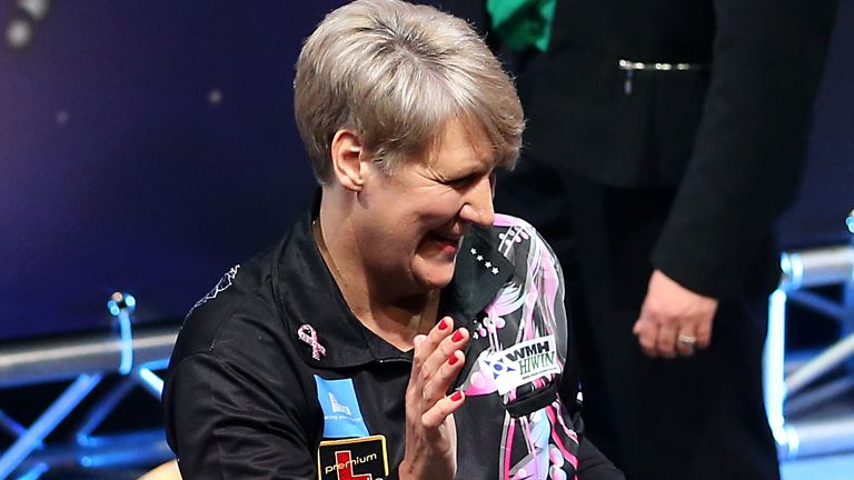 Four-time women's world champion Lisa Ashton is one of several women to have featured in the thriving online darts concept