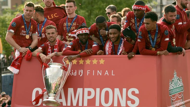 Liverpool celebrated last season's Champions League triumph with a parade