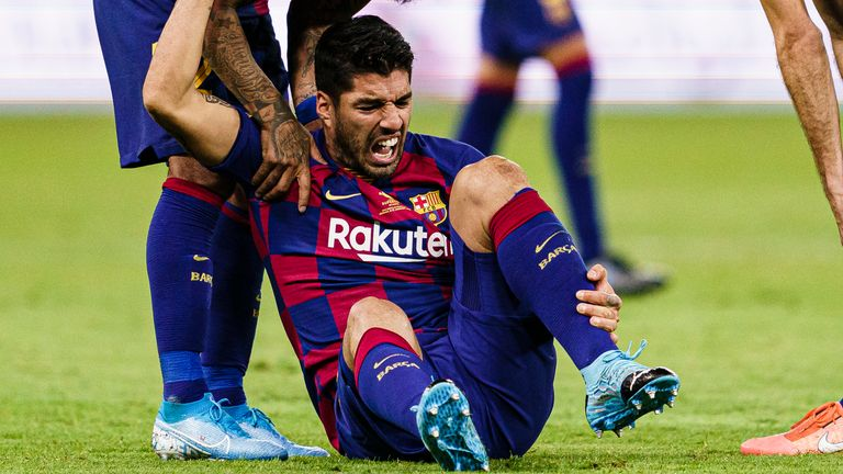 Luis Suarez underwent surgery on his right knee earlier this year