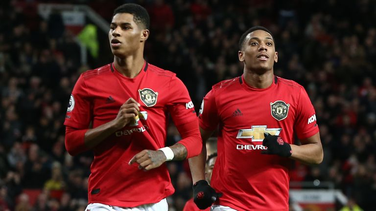 Marcus Rashford scored twice on his 200th United appearance