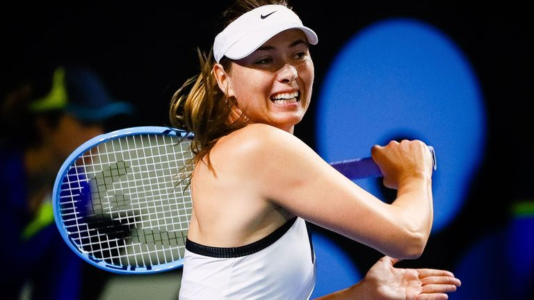 Sharapova will be in the Australian Open line-up later this month