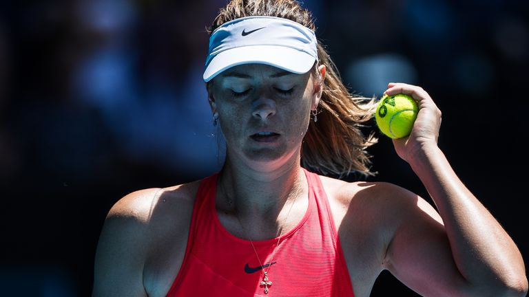 Maria Sharapova needed a wild card to play at Melbourne Park, where she won the title in 2008