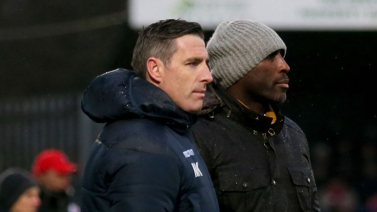 Mark Kennedy assisted Sol Campbell during his time in charge at Moss Rose