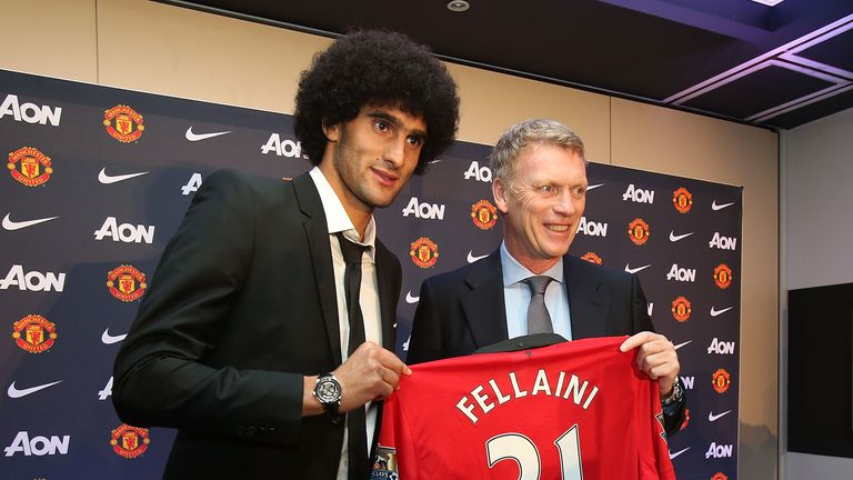 Fellaini was Moyes' marquee signing during his summer at Manchester United