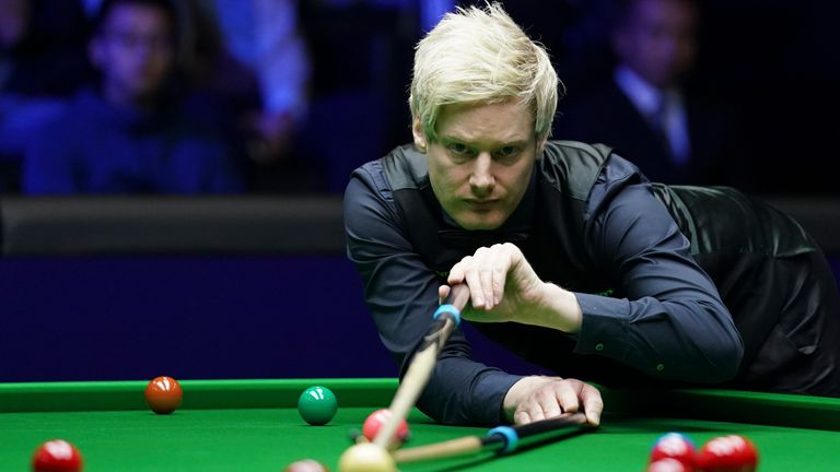 Neil Robertson of Australia will play Hawkins next