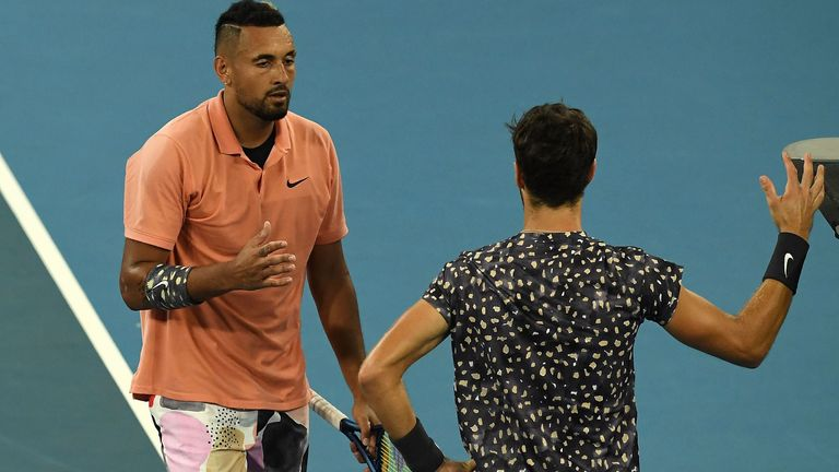 Kyrgios held firm to clinch victory after a comeback by Karen Khachanov