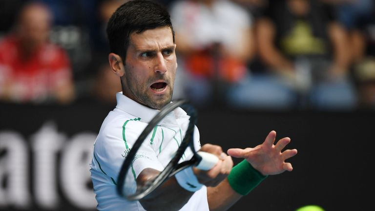 Djokovic is targeting his 17th Grand Slam title