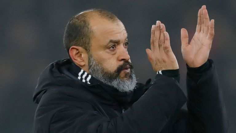 Wolves head coach Nuno Espirito Santo is the only BAME manager in the Premier League
