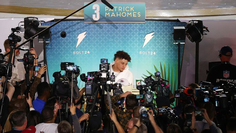 Mahomes garnered plenty of media attention