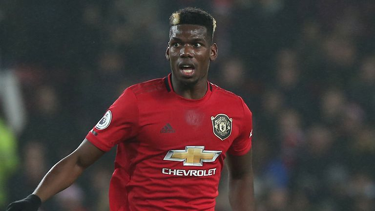 Paul Pogba is one of several first-team players out injured for Manchester United
