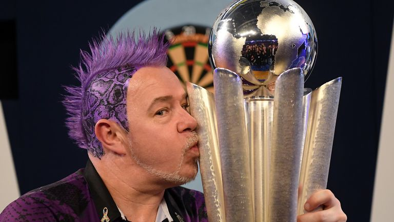 Peter Wright won his first World Championship with victory over Michael van Gerwen at Alexandra Palace last year