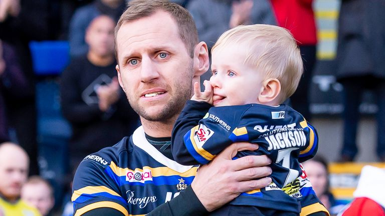 Burrow, recently diagnosed with motor neurone disease, played the last five minutes at Headingley