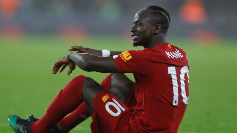 Sadio Mane will miss Liverpool's next three games, starting with a trip to West Ham