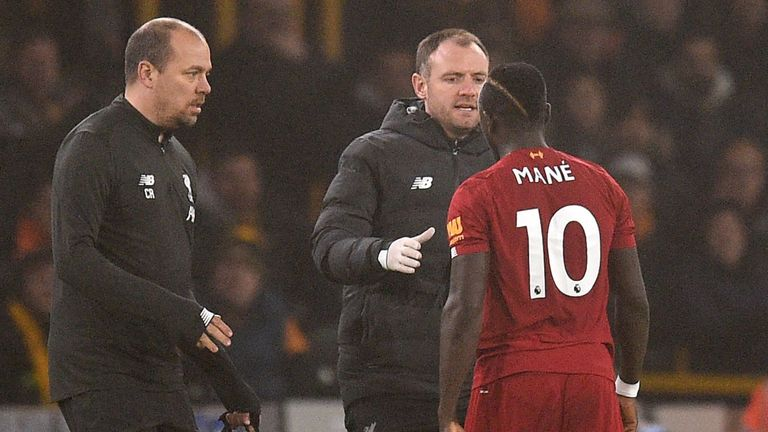 Mane was taken off as a precaution after a hamstring scare