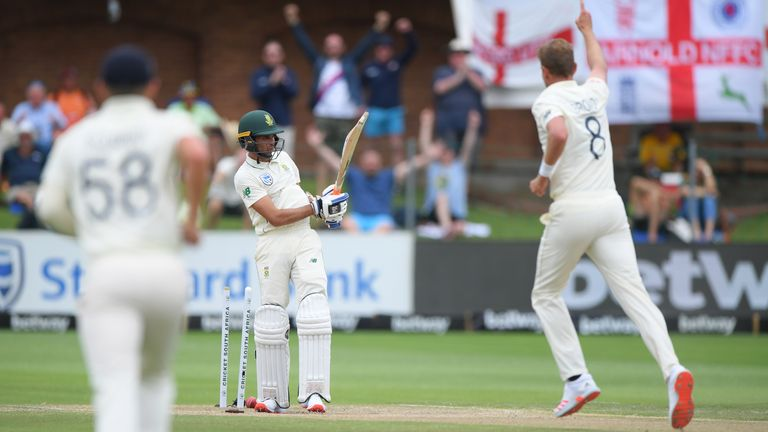 Broad took three wickets as England ran riot