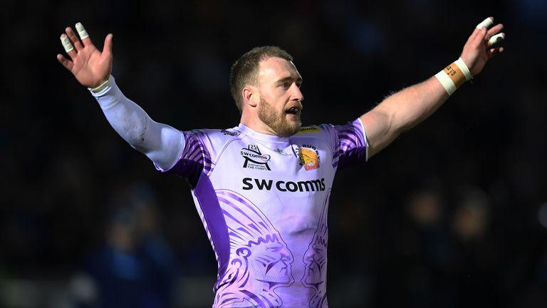 Stuart Hogg missed a long-range penalty for Exeter