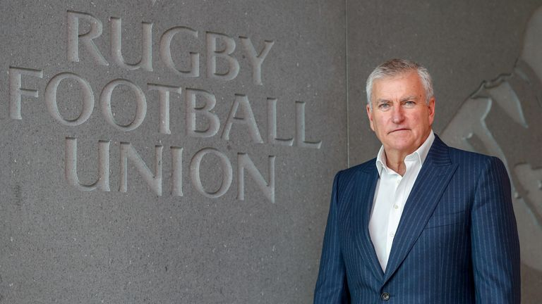RFU chief executive Bill Sweeney said everyone at the organisation was 'excited' for the future under Jones