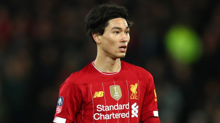 Takumi Minamino made his Liverpool debut against Everton in the FA Cup