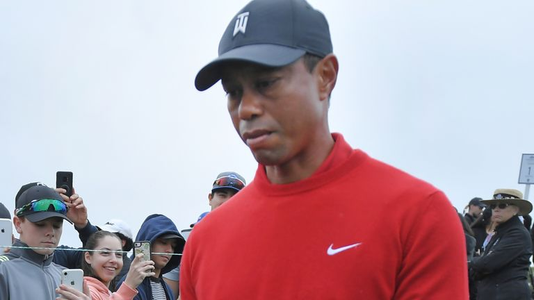 Woods was shaken by the 'unbelievably sad' news