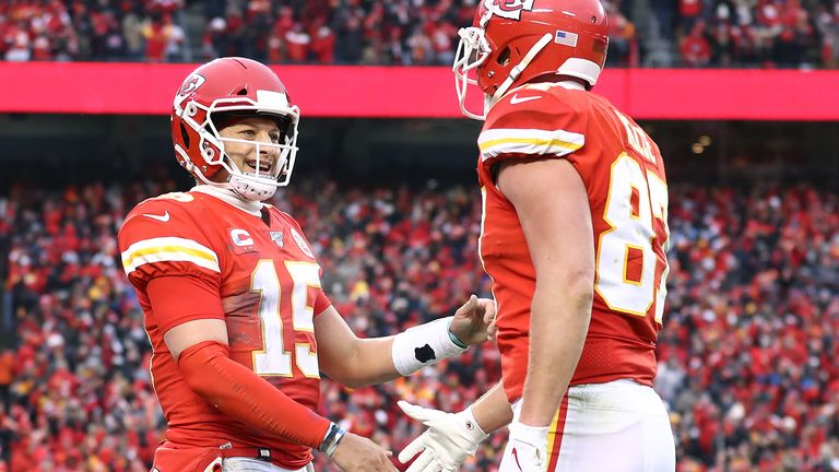 Patrick Mahomes and Travis Kelce combined for three touchdowns when the Chiefs fought back to beat the Texans in January