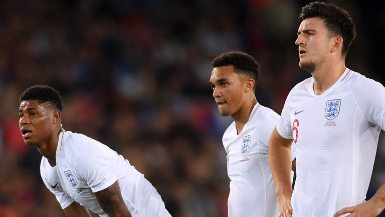 Alexander-Arnold is England team-mates with United players Rashford and Harry Maguire