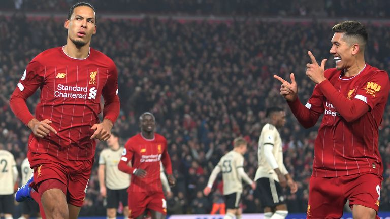 Virgil van Dijk opened the scoring as Liverpool marched on at Anfield