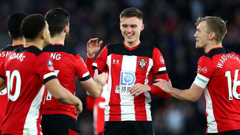 William Smallbone broke the deadlock for Southampton against Huddersfield
