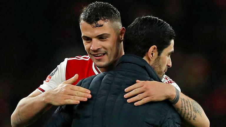 Granit Xhaka looks set to stay at Arsenal under Mikel Arteta after a controversial few months