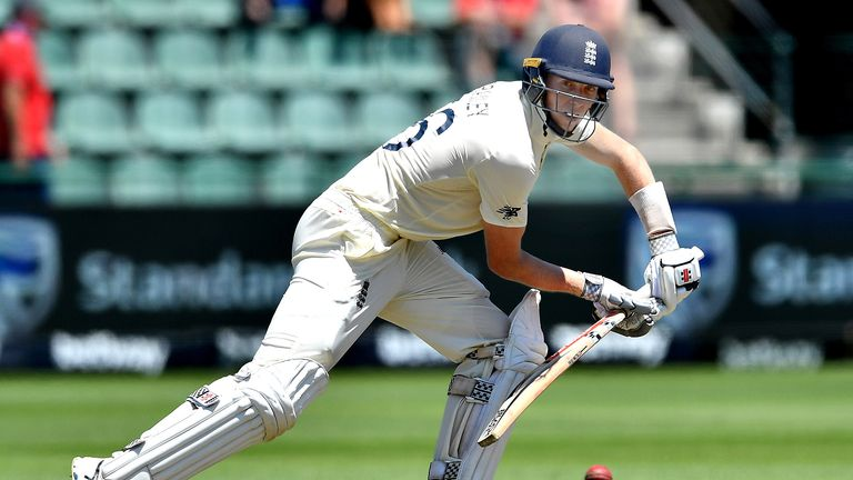 Zak Crawley top-scored with 44 for England on day one in Port Elizabeth
