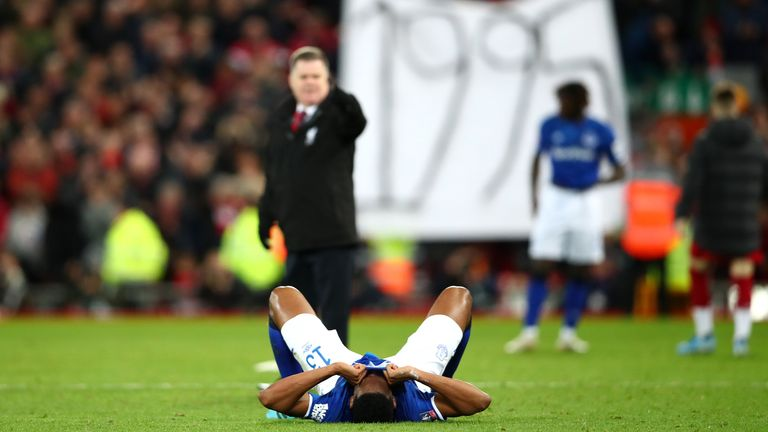 Everton's wait for a trophy will extend to a 26th year after defeat at Anfield