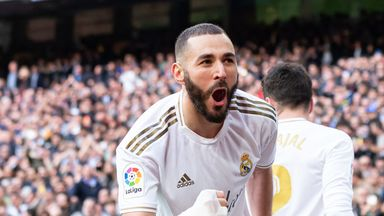 Karim Benzema had previously never scored in a Madrid derby