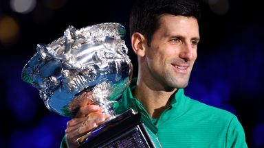 Novak Djokovic will be hoping to defend his Australian Open men's singles title in the New Year