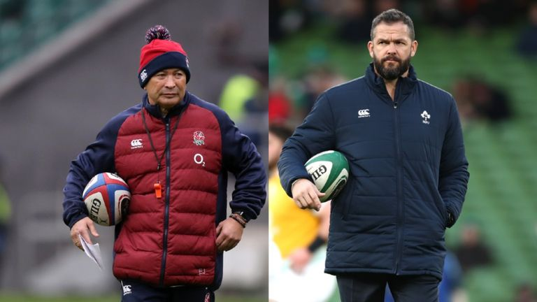 Eddie Jones and Andy Farrell will face off for the first time as opposing head coaches when their sides meet in Twickenham on Sunday