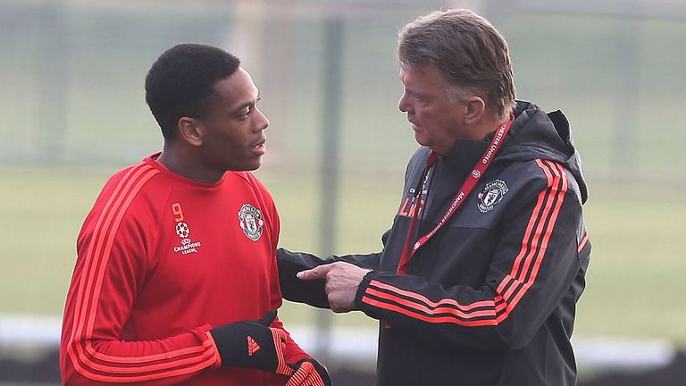 Martial flourished under Louis van Gaal in 2015/16