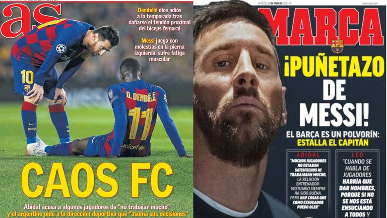 'Chaos FC' and 'The punch of Messi'
