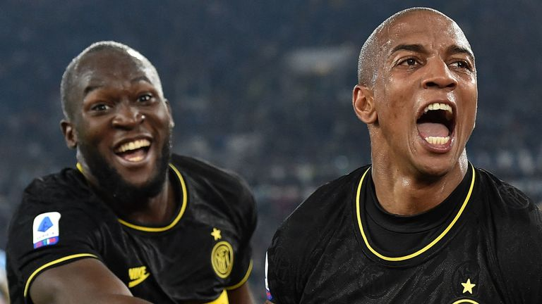 Ashley Young scored his first Inter Milan goal on Sunday