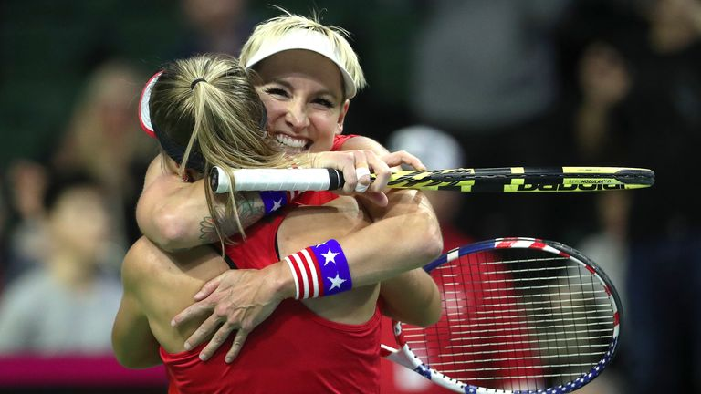 Bethanie Mattek-Sands and Sofia Kenin secured the final match of the clash