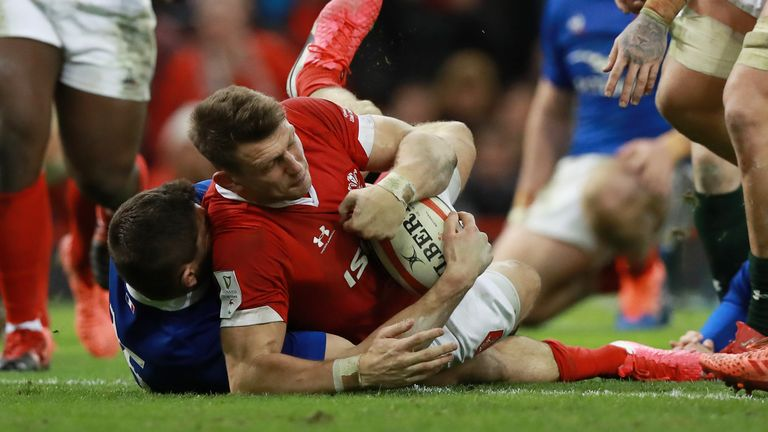 Biggar got over for a late try, but Wales couldn't score again