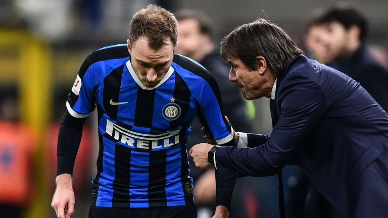 Eriksen says he was excited at the prospect of working with former Chelsea coach Antonio Conte at Inter Milan