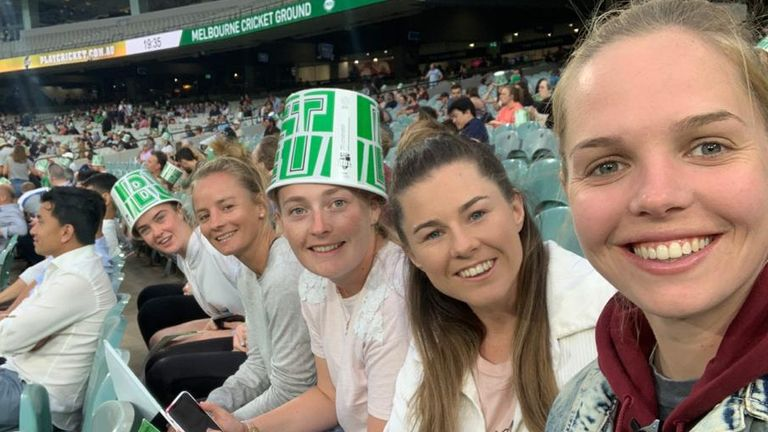 At the MCG with Mady, Sophie, Tammy and Freya