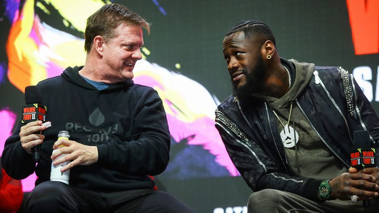 Wilder and his trainer Jay Deas