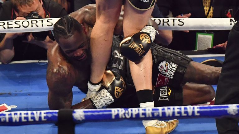 Wilder went down twice in a seven-round stoppage