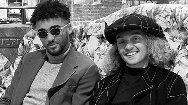 Dominic Calvert-Lewin and Tom Davies (Instagram/@domcalvertlewin)